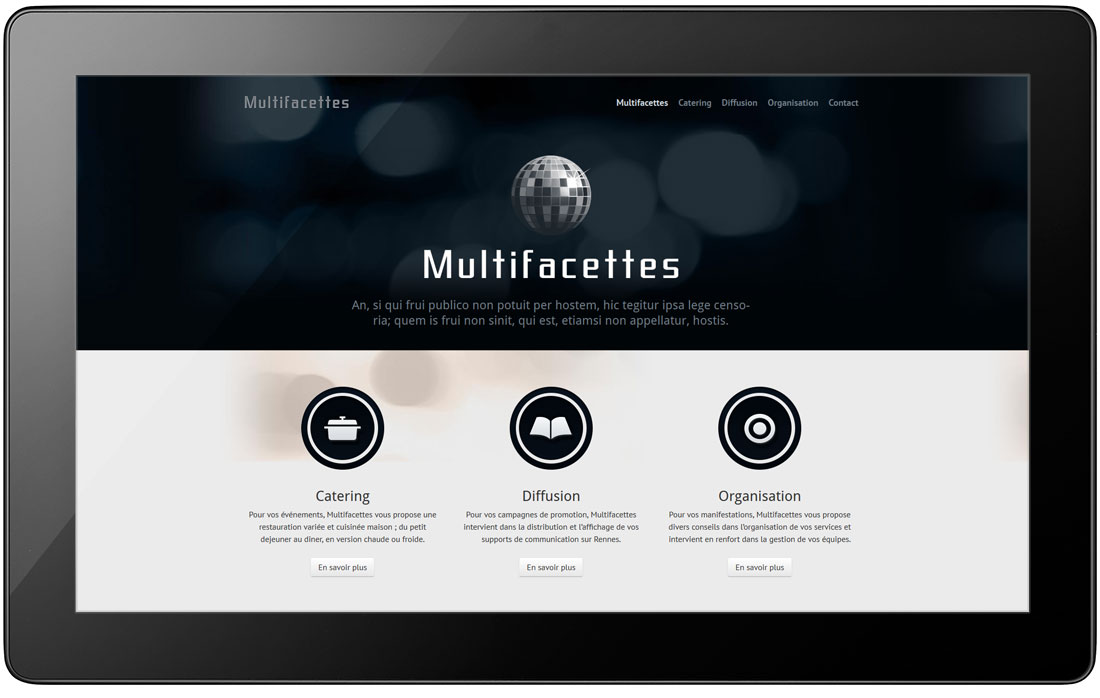 création de site web, de design d'interface et de site vitrine à rennes