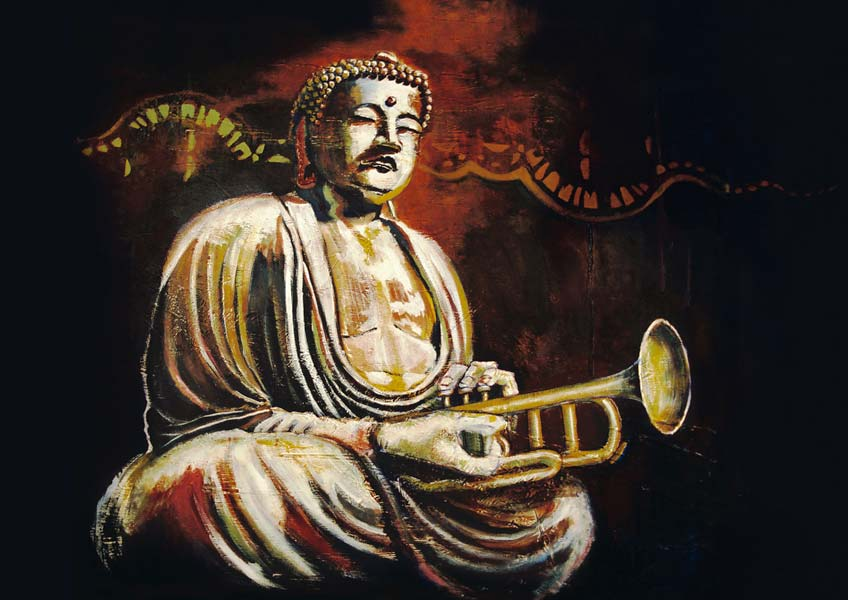 illustration de la pochette cd de buddha