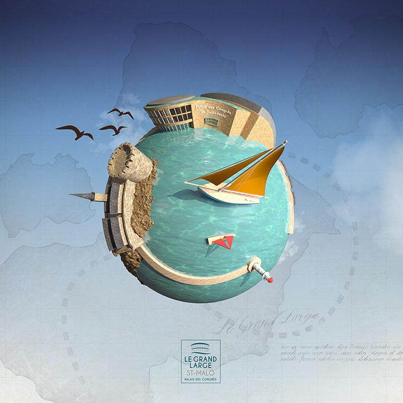 lgl - illustration 3D - carte de voeux
