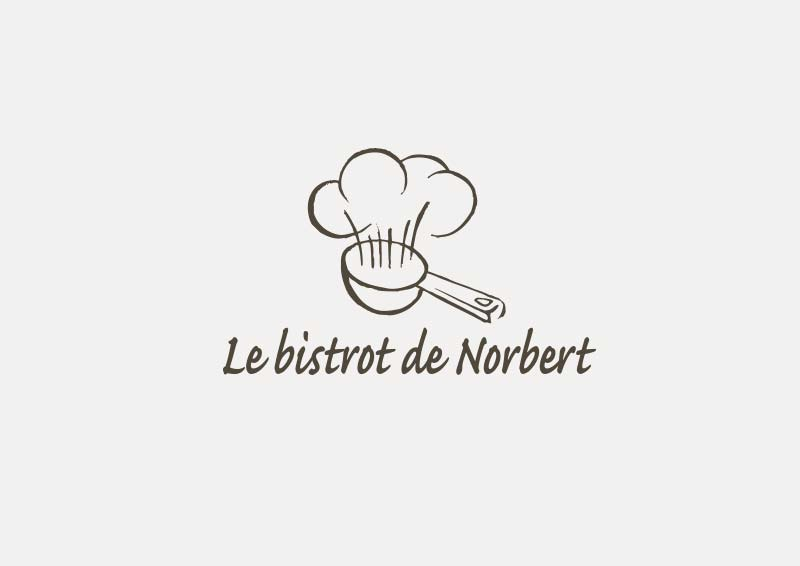 Création de logo à Rennes, Le bistrot de Norbert